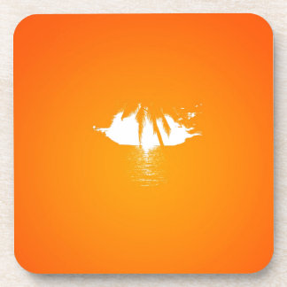 Palm Tree View Drink Coaster