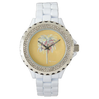 Palm Tree Watch- Yellow Watch