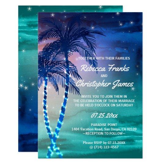 Palm Tree Wedding Invitations | Tropical Templates