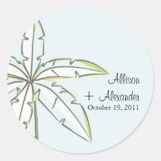 Palm Tree Wedding Sticker Envelope Seal
