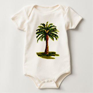 Palm Tree Yellow The MUSEUM Zazzle Gifts Baby Creeper