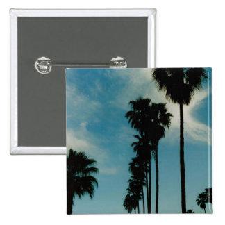 Palm Trees 15 Cm Square Badge