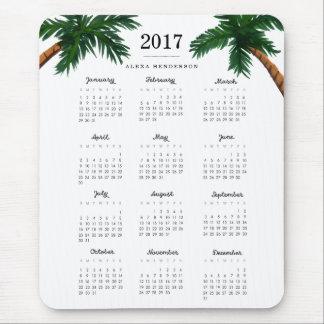 Palm Trees 2017 Calendar Mouse Mat
