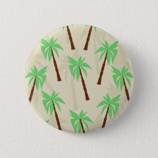 palm trees 6 cm round badge
