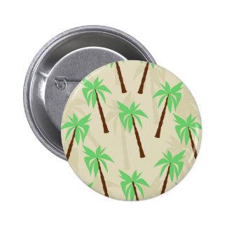 palm trees 6 cm round badge