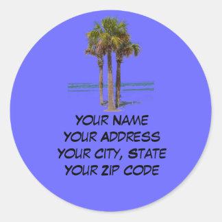 Palm Trees Address label