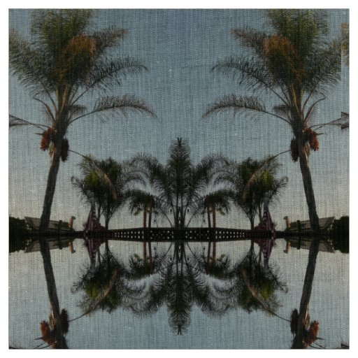 palm trees against sky fabric