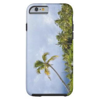 Palm trees along road, Ponta Morrungulo, Tough iPhone 6 Case