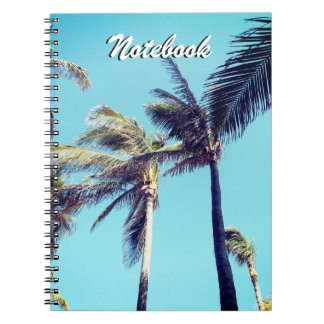 Palm Trees and Blue Sky Spiral Notebook