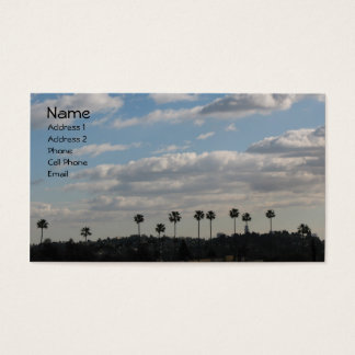 Palm Trees and clouds Business Card