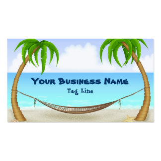 Palm Trees and Hammock Beach Business Card