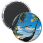 Palm Trees and Hammock Refrigerator Magnets