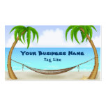 Palm Trees and Hammock Tropical Beach Pack Of Standard Business Cards