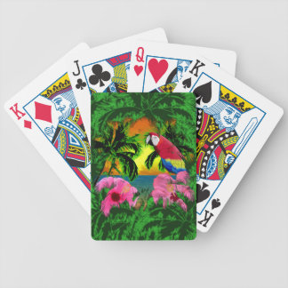 Palm Trees And Island Sunsets Bicycle Playing Cards