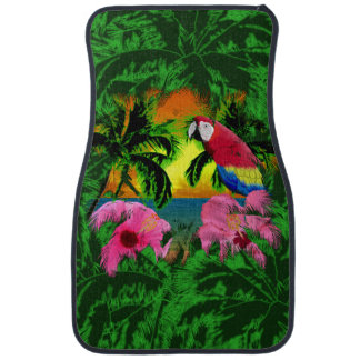 Palm Trees And Island Sunsets Car Mat
