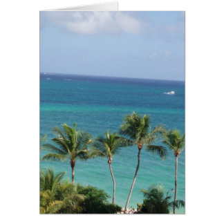 Palm trees and Ocean greeting card