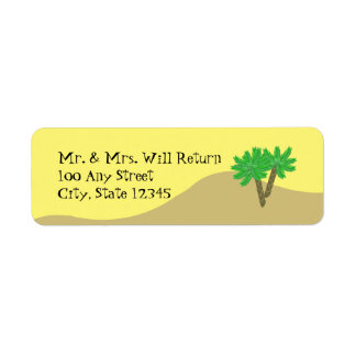 Palm Trees and Sand Return Address Label
