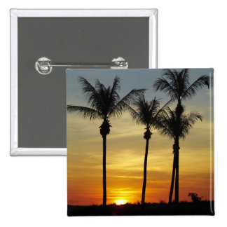 Palm trees and sunset, Mindil Beach, Darwin 15 Cm Square Badge