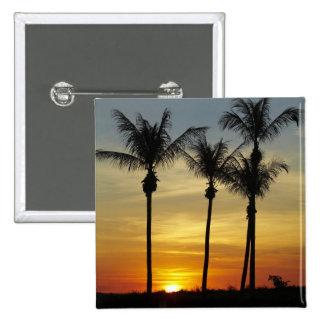Palm trees and sunset, Mindil Beach, Darwin 15 Cm Square Badge