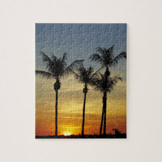 Palm trees and sunset, Mindil Beach, Darwin Jigsaw Puzzle