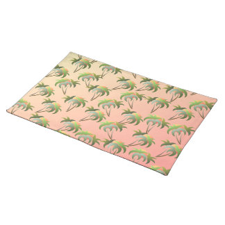 Palm Trees and Sunset Pattern Placemat