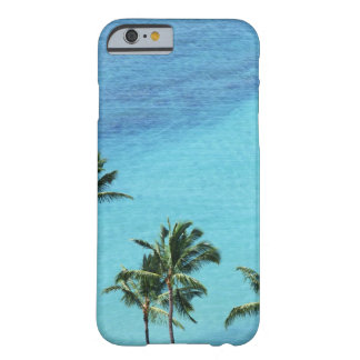 Palm trees and surface of the sea barely there iPhone 6 case