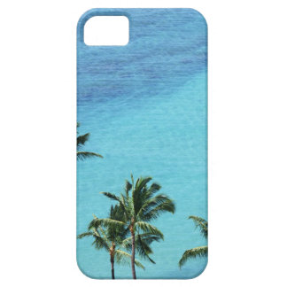 Palm trees and surface of the sea iPhone 5 cover