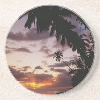 Palm Trees at sea Drink Coaster