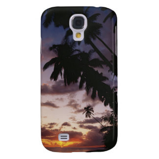 Palm Trees at sea Galaxy S4 Case
