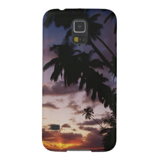 Palm Trees at sea Galaxy S5 Cases