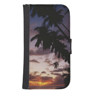 Palm Trees at sea Samsung S4 Wallet Case