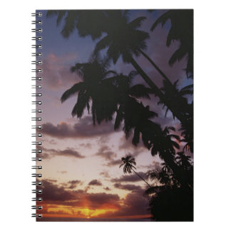 Palm Trees at sea Spiral Notebook