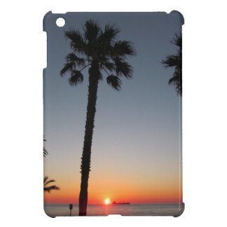 Palm trees at sunset iPad mini covers