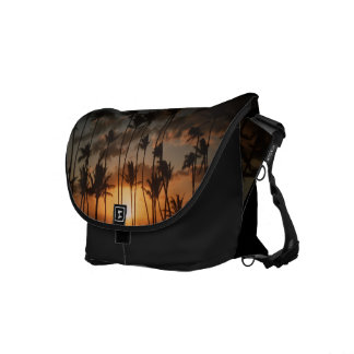 Palm Trees at Sunset Messenger Bag