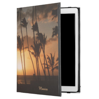 "Palm Trees at Sunset with (or without) your Name iPad Pro 12.9"" Case"