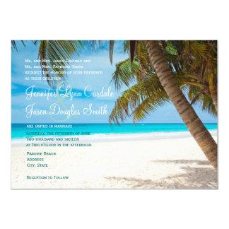 Palm Trees Beach Destination Wedding Invitations