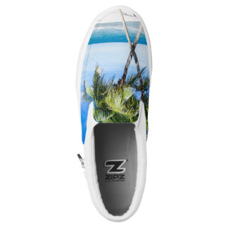Palm Trees Beach Tropical Island Slip On Sneakers