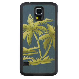 Palm Trees Carved Maple Galaxy S5 Case