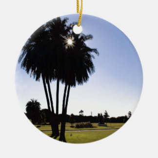 Palm trees christmas ornament