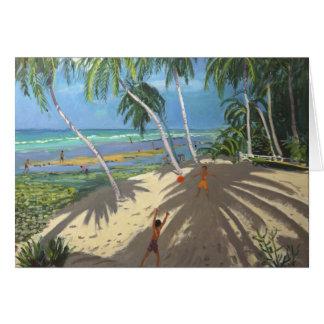Palm trees Clovelly beach Barbados 2013 Card