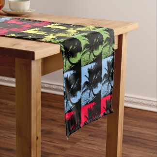 Palm Trees Design Short Table Runner
