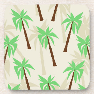 palm trees drink coaster