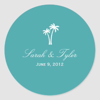 Palm Trees Favor Sticker