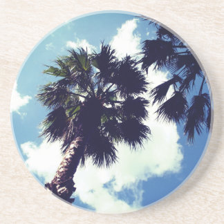 Palm Trees From Below Coaster