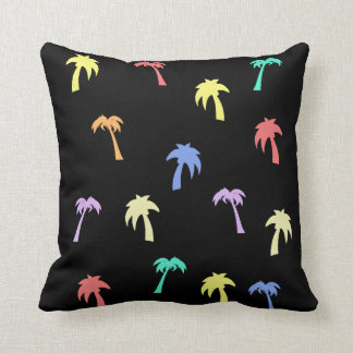 Palm Trees Funky Throw Pillow
