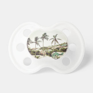Palm Trees in Bermuda Baby Pacifiers