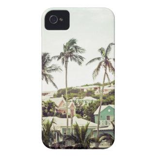 Palm Trees in Bermuda iPhone 4 Case-Mate Cases