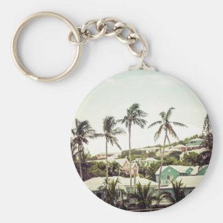 Palm Trees in Bermuda Key Ring