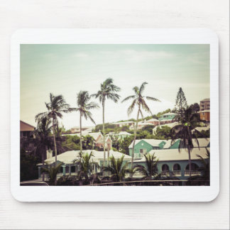 Palm Trees in Bermuda Mouse Mat