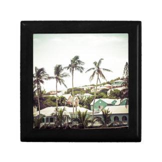 Palm Trees in Bermuda Small Square Gift Box